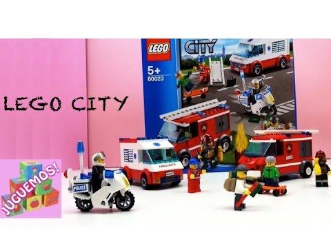 LEGO CITY  LA CIUDAD LEGO CON POLICIAS BOMBEROS AMBULANCIA