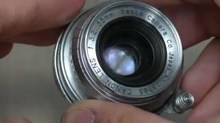 安い広角レンズ!! CANON LENSE35mmF3.2 前後キャップ付 整備済み