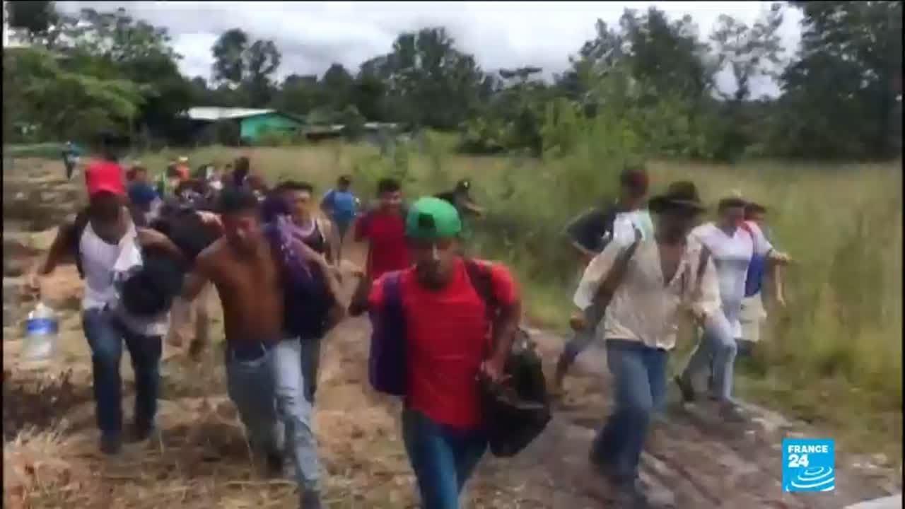 فرانس 24:Thousands of Honduran migrants defy Trump to continue journey North