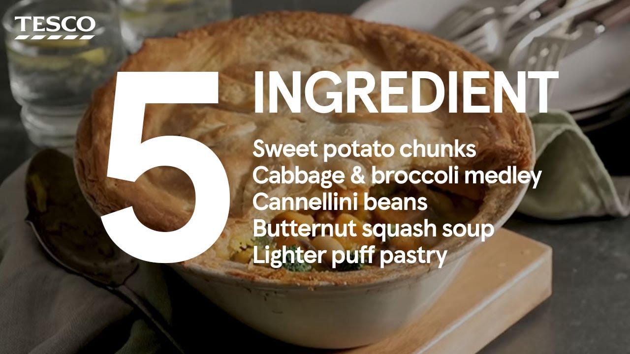 5 Ingredient Sweet Potato And Cannellini Pot Pie Tesco Food