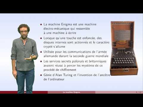 Cryptographie - partie 3 : la machine Enigma et les clés secrètes