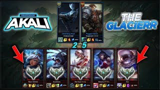 THEGLACIERR AND PROFESSOR AKALI VS 5 SILVER PLAYERS | $1000 RP GIVEAWAY!! | LEAGUE OF LEGENDS |