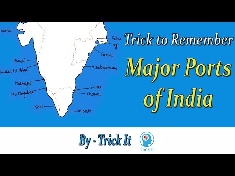 Trick to Remember Ports of India
