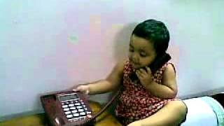 Bangla kid funny video - baby girl talking over phone 18082010(, 2011-01-04T09:57:44.000Z)