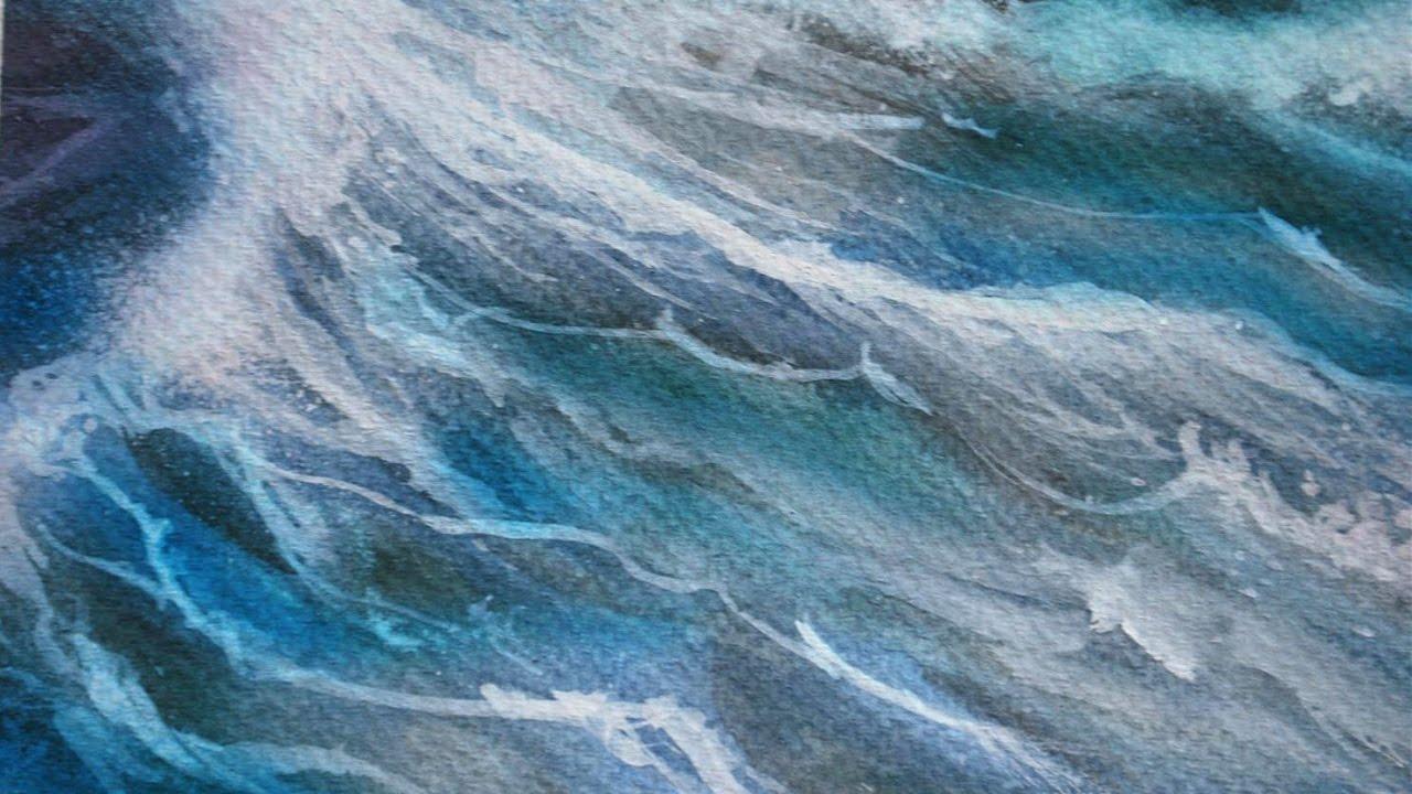 Come disegnare il mare con acquerelli  YouTube