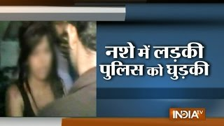 Dehradun: Heavily Drunk Girl Creates Ruckus on Streets - India TV
