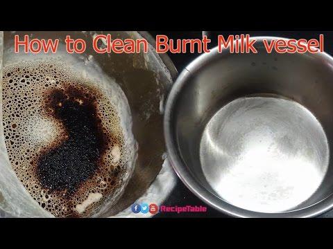 How to Clean Burnt Vessel or Milk Pan (మాడిన పాల గిన్నె సుభ్రపరచడం ఎలా ?)