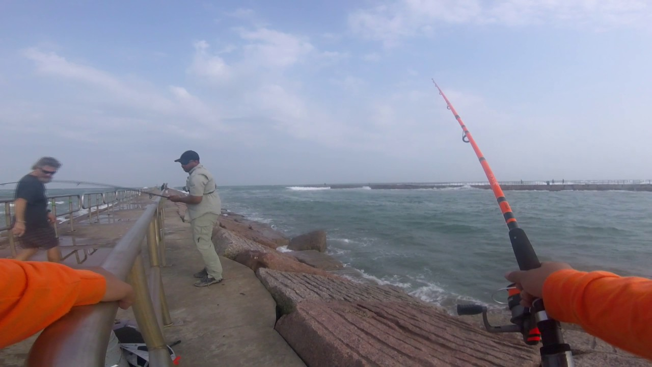 Shore fishing port aransas tx packery channel youtube for Fishing report port aransas