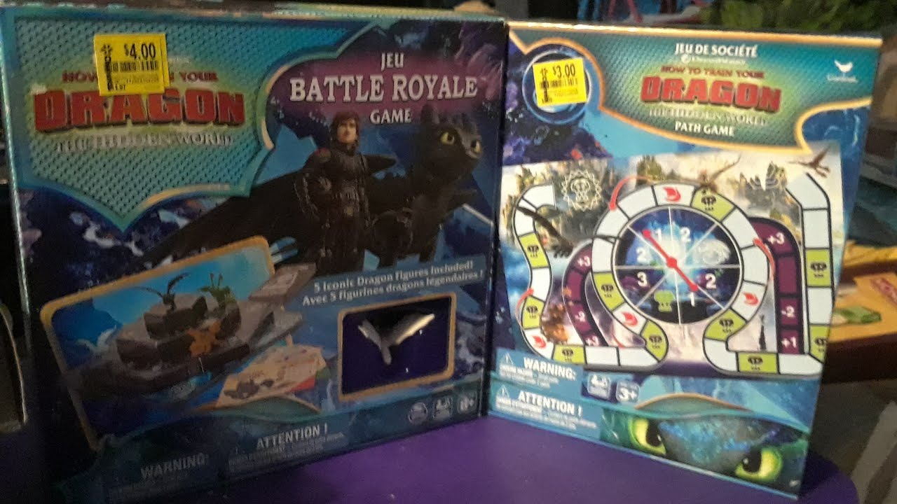 How to Train Your Dragon The Hidden World Battle Royale kids Board Game