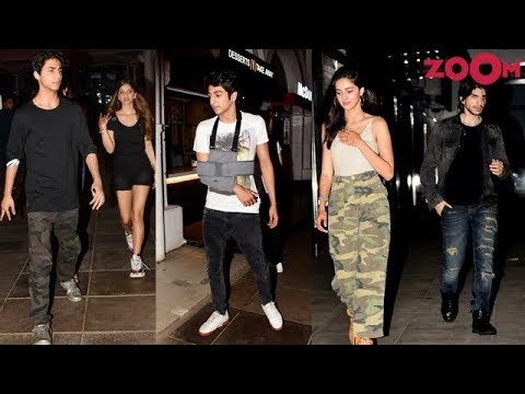 Aryan & Suhana Khan, Ahaan & Ananya Panday & others spotted partying with friends | Bolly Quickie Mp3