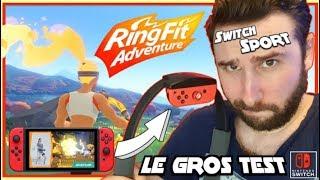 SWITCH SPORT, Ca fait Suer RingFit Adventure, Gros Test, Avis & Gameplay !!