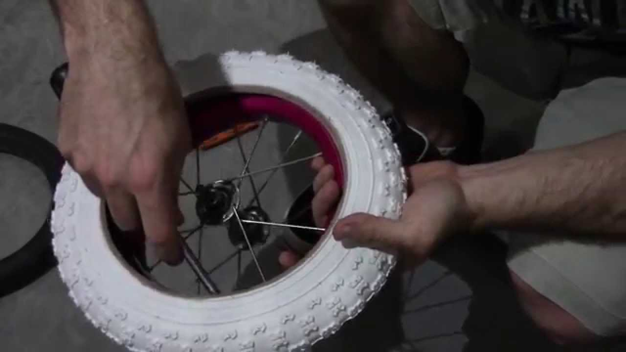 How To Change A Kids 12 Inch Bike Tire Youtube
