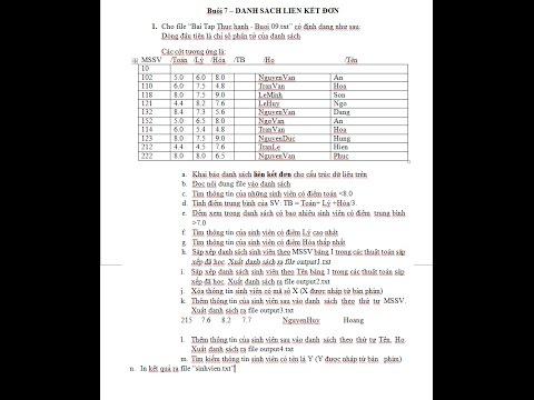 [CTDL] Danh Sách Liên Kết Đơn list Sinh vien