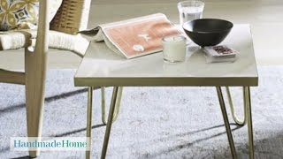 Brass-leg Side Table Project - Handmade Home - Martha Stewart
