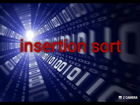 Insertion sort with example and time complexity