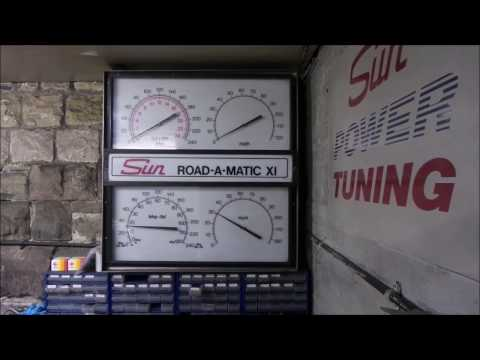 Peugeot Twin v6 205 Gti NA Dyno run vs. nitrous (80 bhp jets)