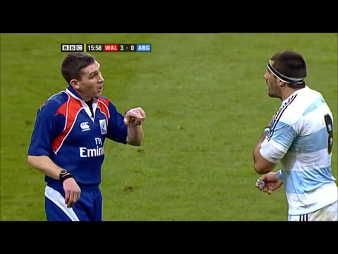 George Clancy utterly bewildering bullshit call vs Argentina 2009