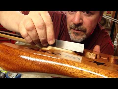 Boudreau Guitars - Dave's Mahogany Strat, Fitting the neck Part 3