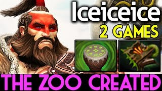 Iceiceice Dota 2 7.07 [Beastmaster] The Zoo Created | 2 GAMES RANKE...