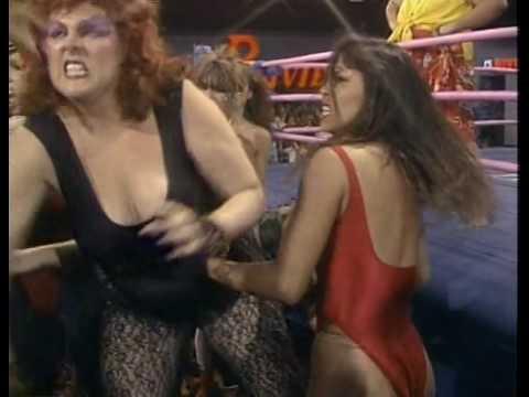 GLOW Gorgeous Ladies of Wrestling Matilda the Hun vs. Mt. Fiji Lumberjack Match