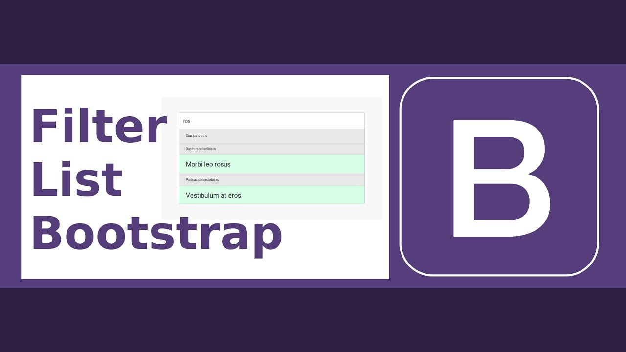 dating site- ul bootstrap