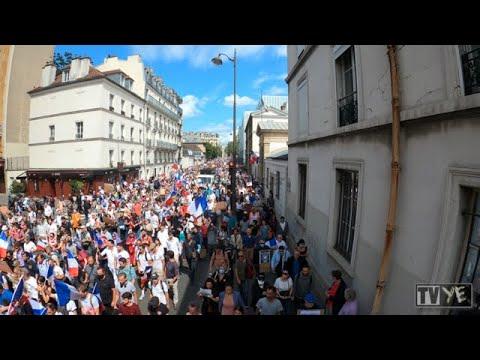 Manifestation contre le pass sanitaire de Montparnasse à place Laroque - Paris