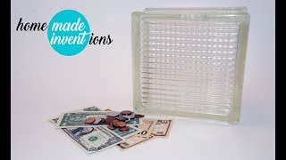 DIY cashbox from glassblock luxfer - Homemade inventions