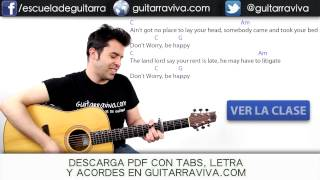 Dont Worry Be Happy guitarra acordes tutorial cover chords tocar guitarra