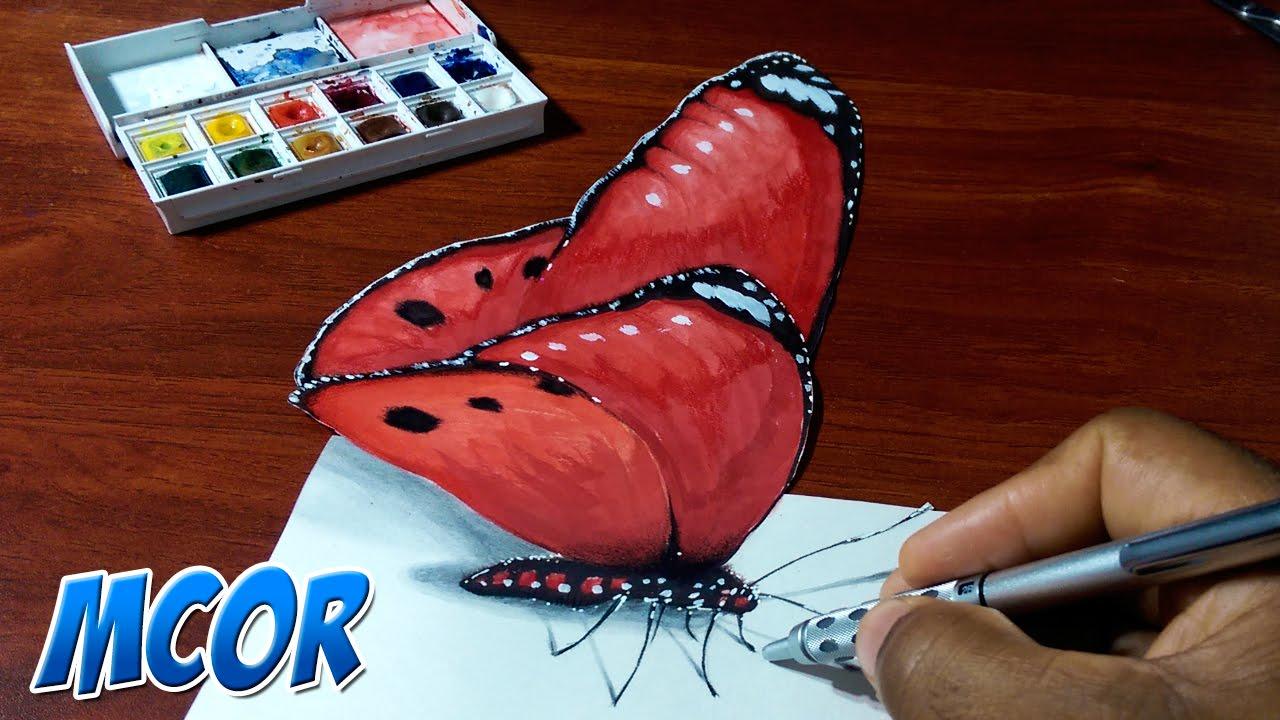 Como Dibujar Una Mariposa Paso A Paso 3 How To Draw A Butterfly 3 Youtube Como Pintar Mariposas Como Dibujar En 3d Tutoriales De Pintura En Acrilico