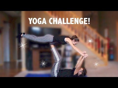 YOGA CHALLENGE WITH GIRLFRIEND!!