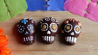 Dia de los Muertos Chocolate Candy Skulls Recipe  The Sweetest Journey