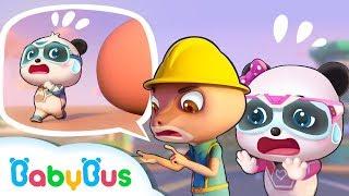 Biệt đội siêu cứu hộ BabyBus | Anh thằn lằn gặp nạn | Hoạt hình thiếu nhi vui nhộn | BabyBus