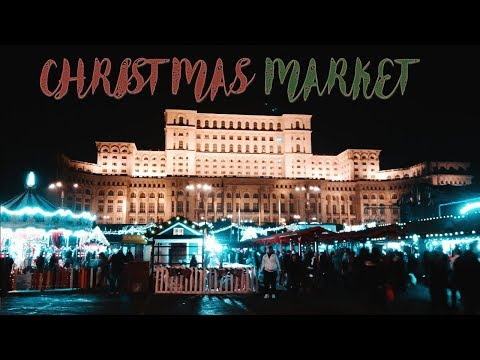 #romania Bucharest- Christmas Market / Коледен Базар Пред Парламента /Romania Travel Vlog 2017