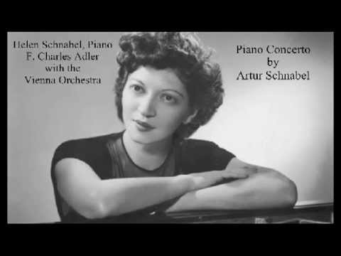 Helen Schnabel Plays Artur Schnabel - Rondo from Piano Concerto (1901)