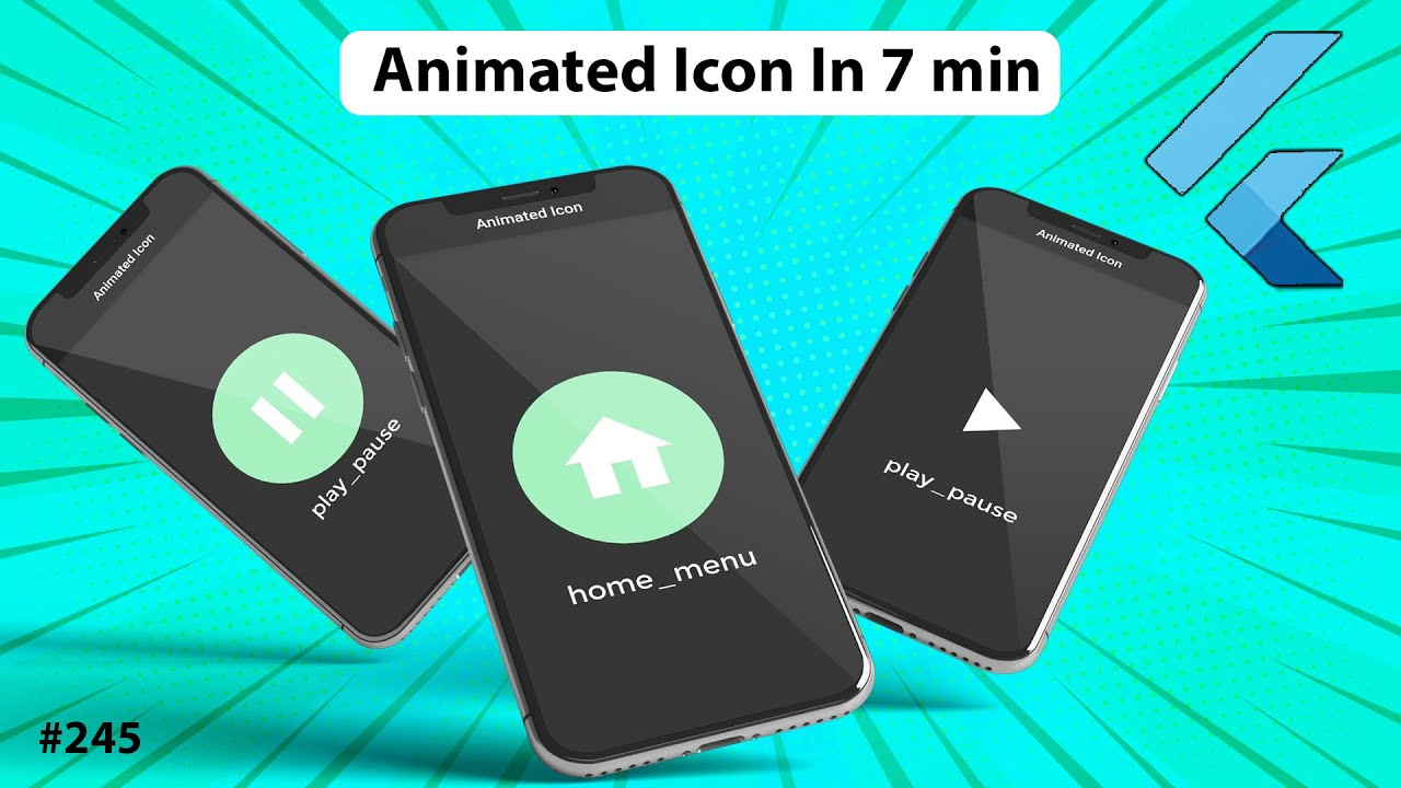 Flutter Tutorial - Animated Icon In 7 Minutes