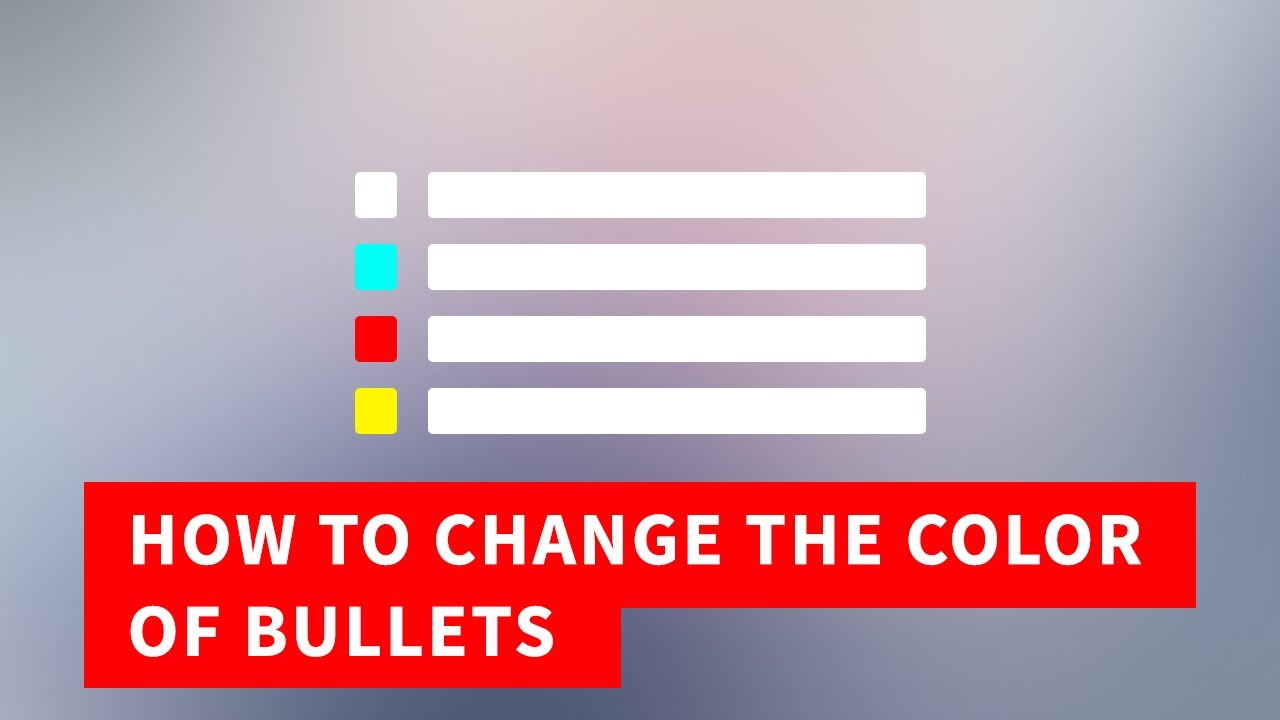 Bulleted List Html Change The Color Of Bullets Quick Tutorial