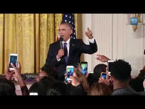 Obama Surprises Students At White House