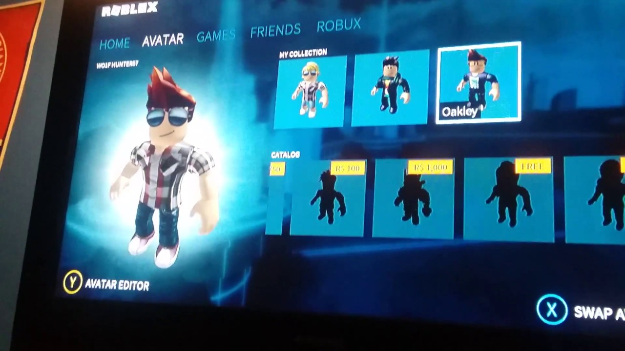 How To Customize Your Roblox Avatar On Xbox1 Youtube