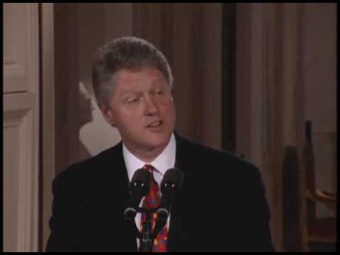 Pres. Clinton at Medal of Freedom Event (1993)