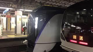 新型スーパーあずさE353系S102+ S202編成E257系回送列車と並んだ‼︎ 新宿駅にて