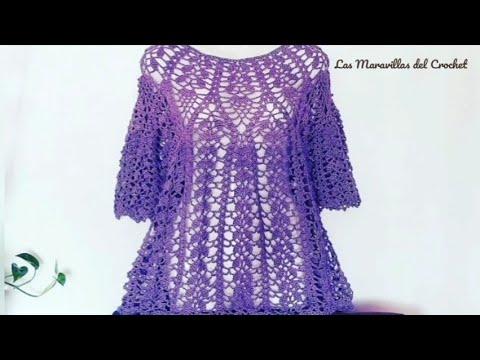 Bluson de Piñas a Crochet Paso a Paso💜( #1)