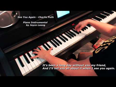 Furious 7  Charlie Puth no rap  See You Again Instrumental with Lyrics onscreen