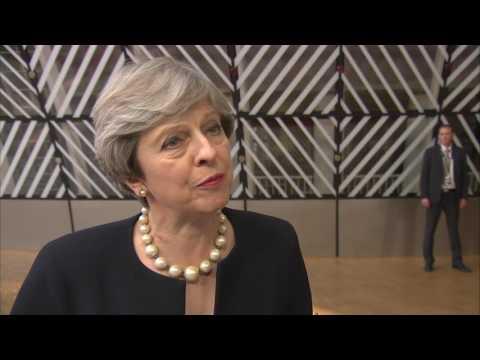 Δηλώσεις Τερέζα Μέι κατά την άφιξή της στη Σύνοδο Κορυφής στις Βρυξέλλες