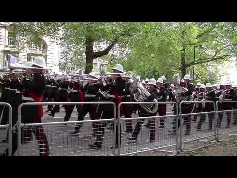 Massed Bands of HM Royal Marines: Beating Retreat 2016 Birdcage Walk