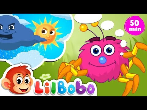 Itsy Bitsy Spider Went Up The Waterspout | Little BoBo Nursery Rhymes - Flickbox kids | With Lyrics