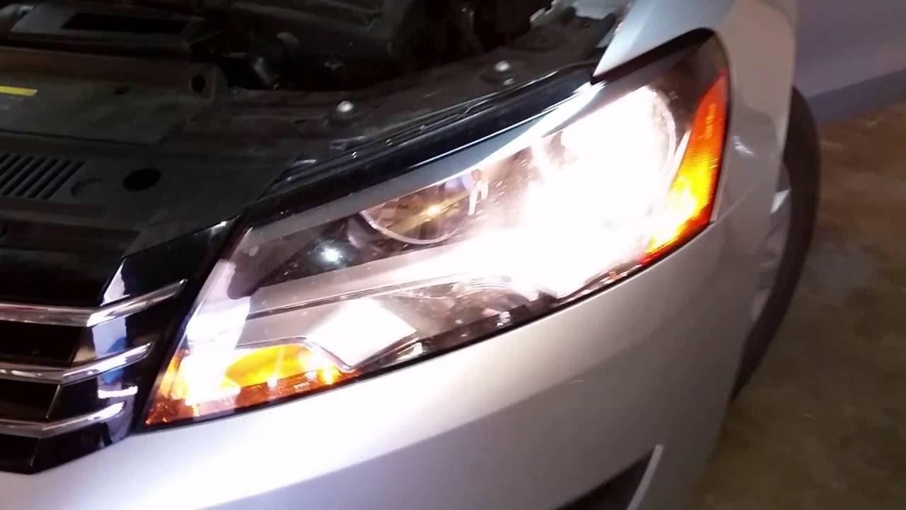 2013 vw passat headlight adjustment