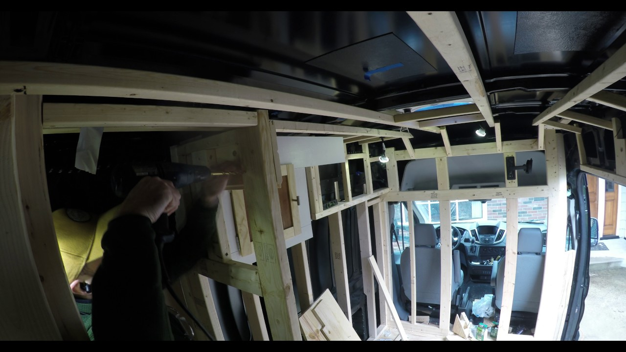 Van Conversion Week 14 Initial Tongue And Groove Paneling