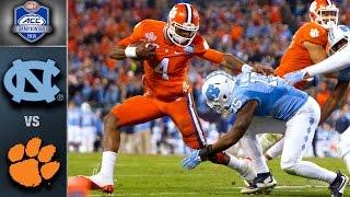 Clemson vs. North Carolina ACC Football Championship Game Highlights (2015)