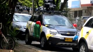 Cars Google Street View in Cali, Colombia - HD 720p Free HD Video