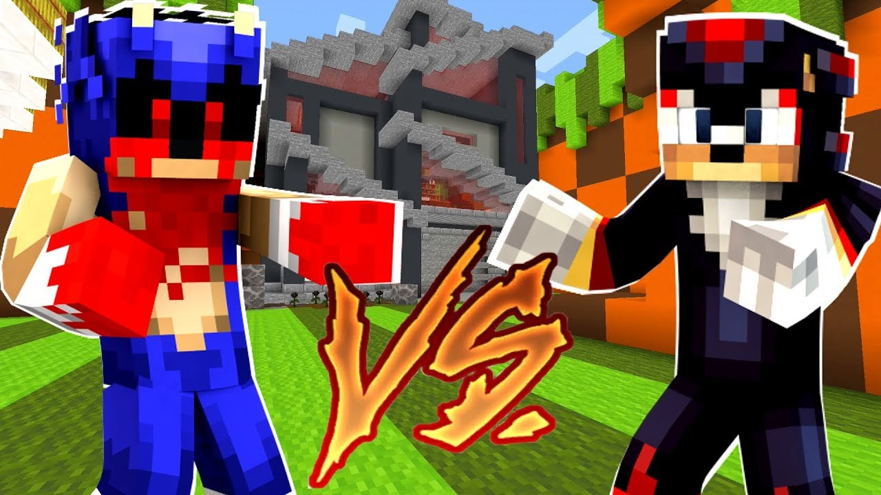 Minecraft Sonic The Hedgehog Sonic Exe Vs Shadow 55 دیدئو Dideo
